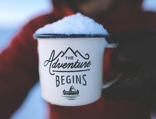 snow in mug